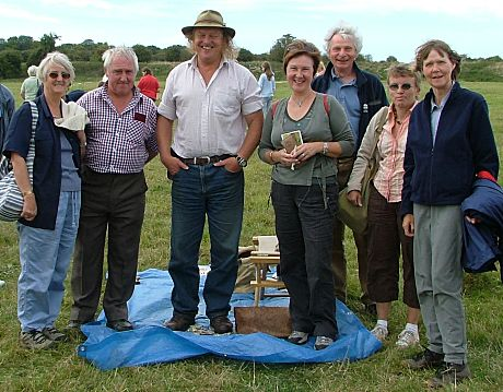 Members of Stoke-on-Trent Museum Archaeological Society with Phil Harding of Wessex Archaeology and Channel 4's Time Team - click to enlarge...